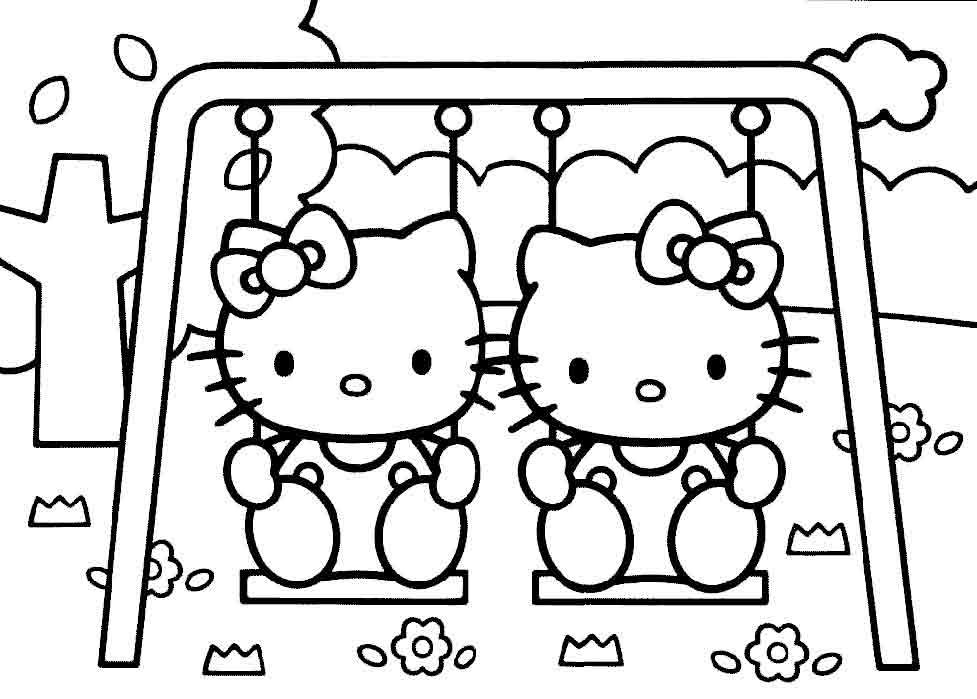 coloriage helo kitty